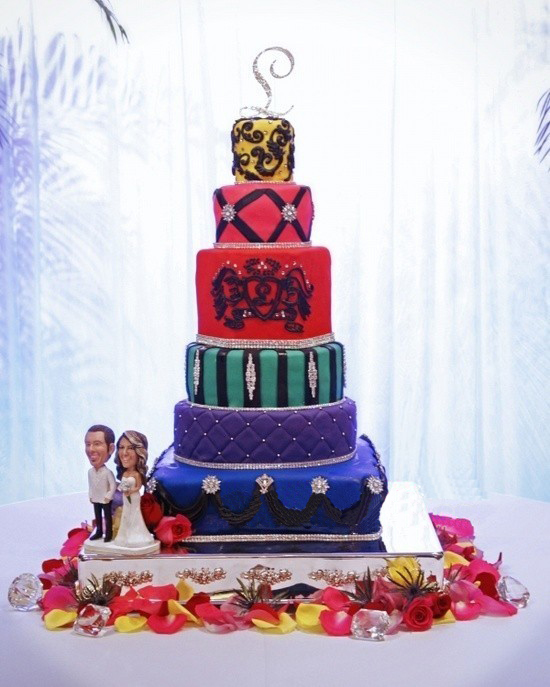 10 Gâteaux de mariage de couleurs contemporains: ajouter plus de ...
